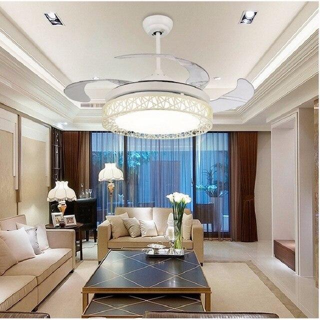 Ceiling fans lamp  42 inch LED remote control ceiling fan light Used for bedroom living room lamp 85-265V