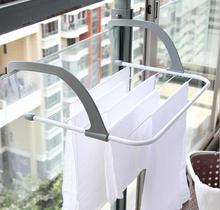 Balcony Laundry Window Drying Racks Plastic Washing Clothes Shelf hanging storage folding rack drying outdoor towel