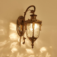Applique da parete per esterni retrò europa Villa applique E27 impermeabile esterno giardino porta luce portico Vintage lampada da parete Decro