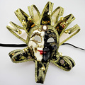 Handmade Black/Red/Blue/Purple Sun God Full Face Venetian Mask Halloween Masquerade Party Masks for Adults Party Favor DEC132