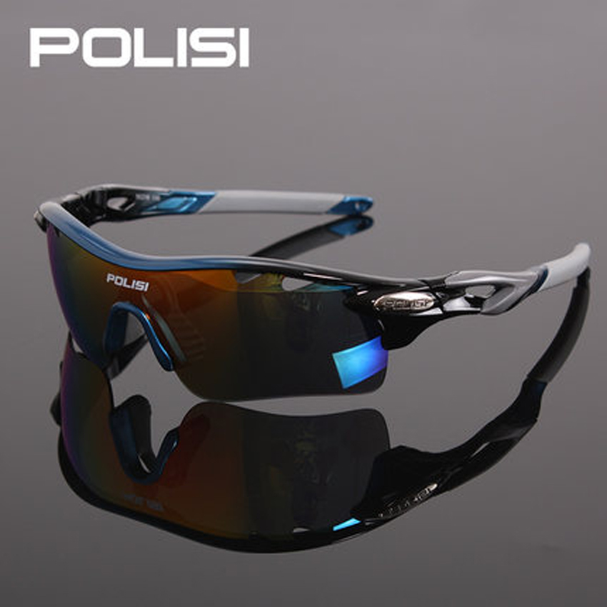 POLISI New Authentic Bicycle Sunglasses Riding Bike Sun Glasses Polarized 5Lenses Cycling Glasses Eyewears Goggles 9 Colors gurensye brand new design big frame colourful lens sun glasses outdoor sports cycling bike goggles motorcycle bicycle sunglasses