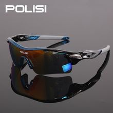 POLISI New Authentic Bicycle Sunglasses Riding Bike Sun Glasses Polarized 5Lenses Cycling Glasses Eyewears Goggles 9 Colors