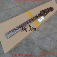 free shipping new Big John 5 strings electric bass guitar zebra wood neck without hardware F 3415