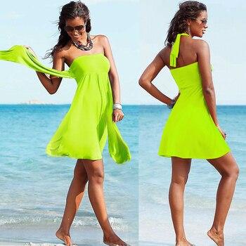 SWIMMART Popular Convertible Cover Up Beach Wears 2017 Multi Wears Infinite Female Favorite Women's Summer Beach Dresses