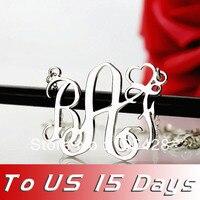 Ailin Бесплатная доставка-Новейшее персонализированное ожерелье с серебряной монограмма надпись ожерелье Любовь Ювелирные изделия доставля...