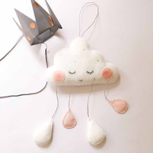 Nordic Style Felt Cloud With Face Kids Room Decoration Scandinavian Children Decor For