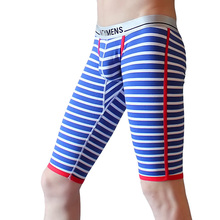Cotton Mens Trousers Men Comfortable Striped Print Pants Underwear