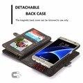 Ретро Ковбой Стиль Натуральная Кожа Case Для Samsung Galaxy S7/S7 края Многофункциональный 2 в 1 Кожа Стенд Бумажник Обложка