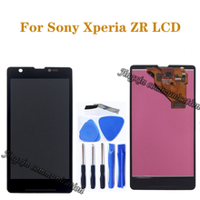 "4,55 ""original display Für Sony Xperia ZR LCD touch screen digitizer für Sony Xperia ZR M36h C5502 C5503 LCD reparatur teile"