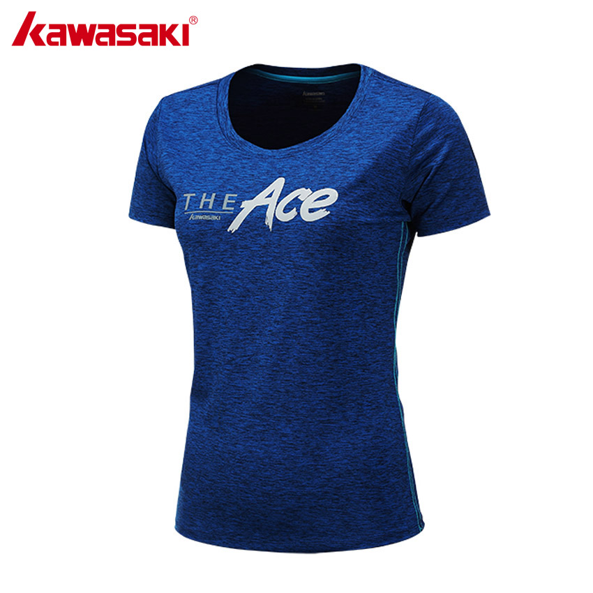 KAWASAKI Breathable Badminton T Shirts for Women Table Tennis T-Shirt Short Sleeve Running Fitness Clothes Sportswear ST-172035