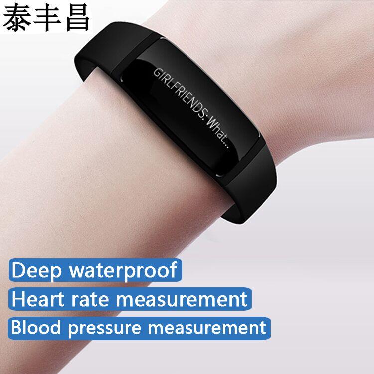 imágenes para Pulsera Pulsera inteligente podómetro Androide a prueba de agua de medición del ritmo cardíaco y la presión arterial en los hombres y las mujeres reloj deportivo Appl