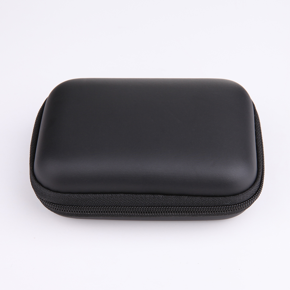Mini Square EVA Carry Case Box Headset Earphone Earbud Cable Storage Pouch Bag
