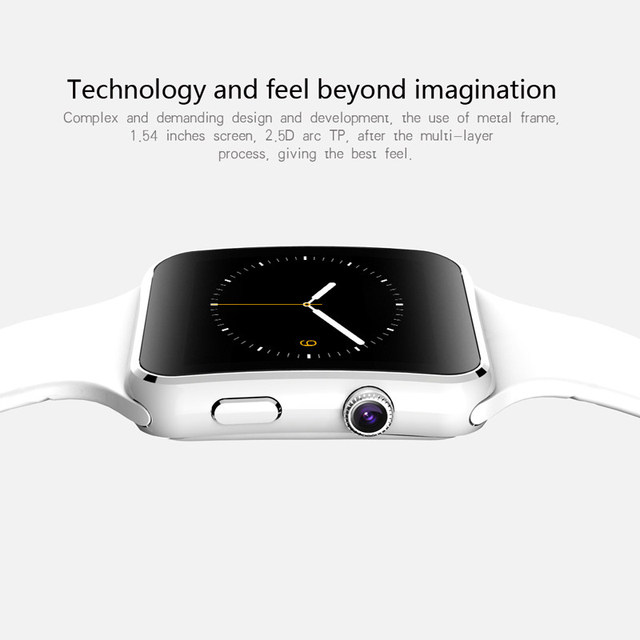 Pewant E6 Smart Watch On Wrist Bluetooth Wrist Watch For Android For Samsung Huawei Sony English Sim Card Sleep Tracker PK X6