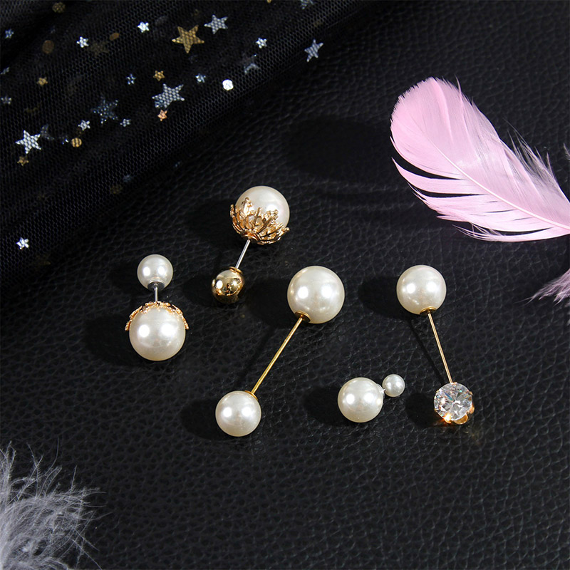 19 High Quality Vintage Gold Brooch Pins Double Head Simulation Pearl Large Big Brooches For Women Wedding Jewelry Accessories 3