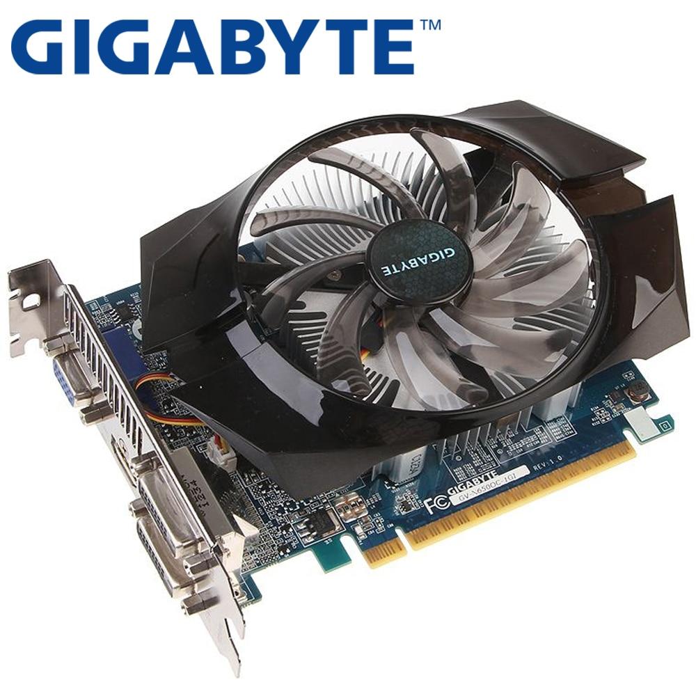 GIGABYTE видео карта оригинальный GTX650 1 ГБ 128Bit GDDR5 Графика карты для nVIDIA Geforce GTX 650 Hdmi Dvi используются VGA карты на продажу