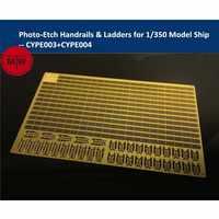 Photo-Etched PE Handrail & Ladder for 1/350 Scale Model Ship Kit (2pcs/set)