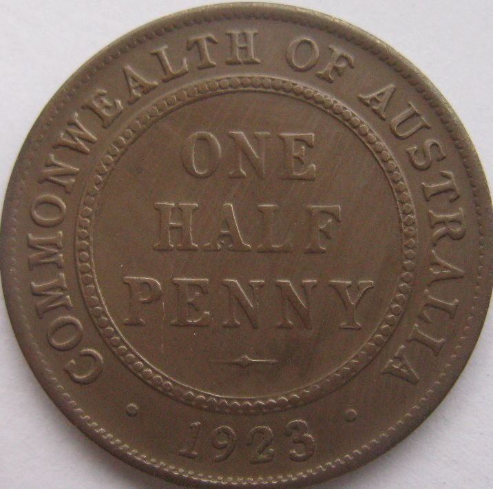 Free shipping wholesale replica 1923 australia one half for One penny homes