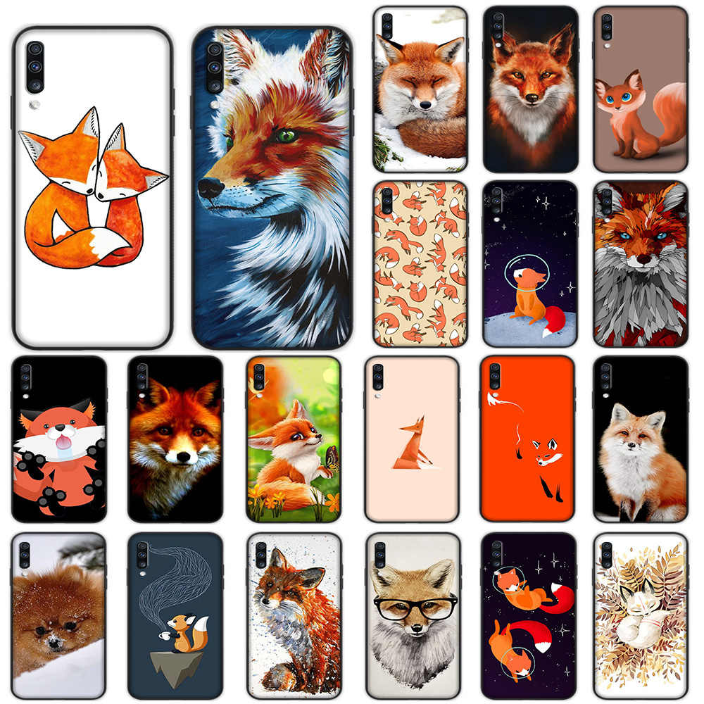 Fox Soft Case untuk Samsung Galaxy A5 A6 A7 A8 A9 Plus A10 A20 A30 A40 A50 A60 A70 M40 cover