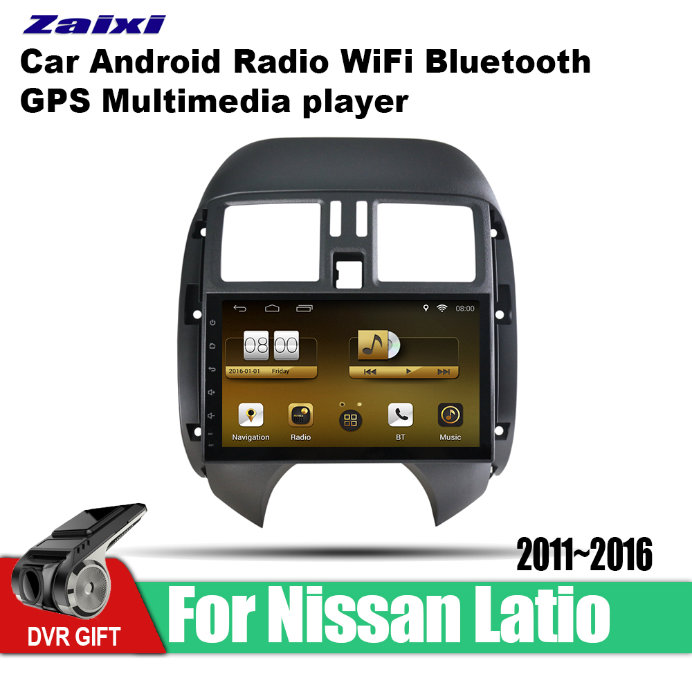 ZaiXi Android Car GPS Multimedia Player For Nissan Latio 2011~2016 car Navigation radio Video Audio WiFi Bluetooth