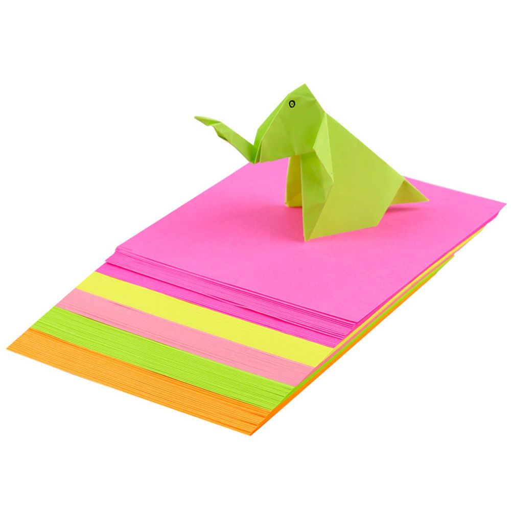 Double sided craft paper - 100pc Origami Square Paper Double Sided Coloured Craft Diy Colorful Scrapbooking New 10cm Handmade Paper Mix