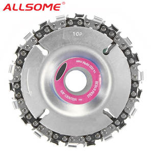 ALLSOME 4 Inch Grinder Disc For 100/115 Angle Grinder Chain 22 Tooth Fine Cut Chain