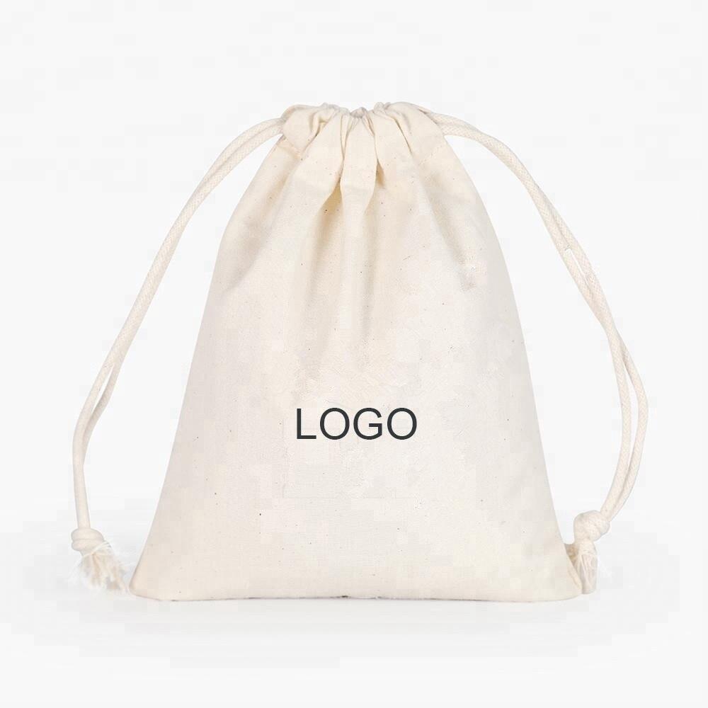 100% Wahr Großhandel 1000 Teile/los Nach Größe Mit Ihrem Logo Natürliche Baumwolle Kordelzug Einkaufstaschen Für Kleidung, Für Anzeigen, Für Kinder Hoher Standard In QualitäT Und Hygiene