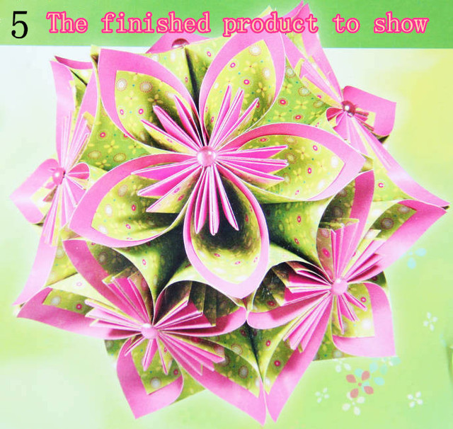 New Products Listed Creative Origami Flowers Preschool Children Materials Handmade Paper 15