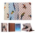 Fashion Bird Animal Style 360 Degree Rotation Stand PU Leather Protective Cover Case For Apple iPad Mini 4 Mini4 7.9 inch Tablet