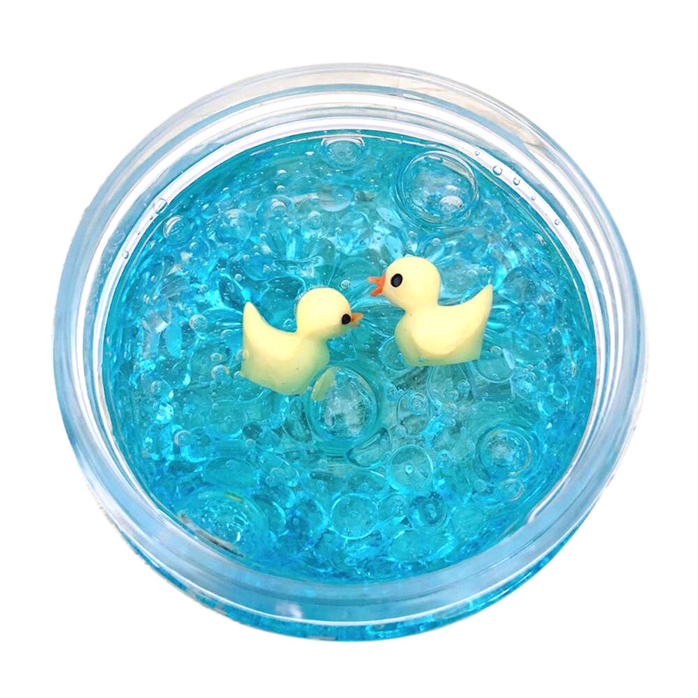 Clear Crystal <font><b>Slime</b></font> Toys DIY Light Plasticine Charms <font><b>Slimes</b></font> <font><b>Duck</b></font> Mud Mixing Cloud Antistress Clay Toy for kids Children k330 image