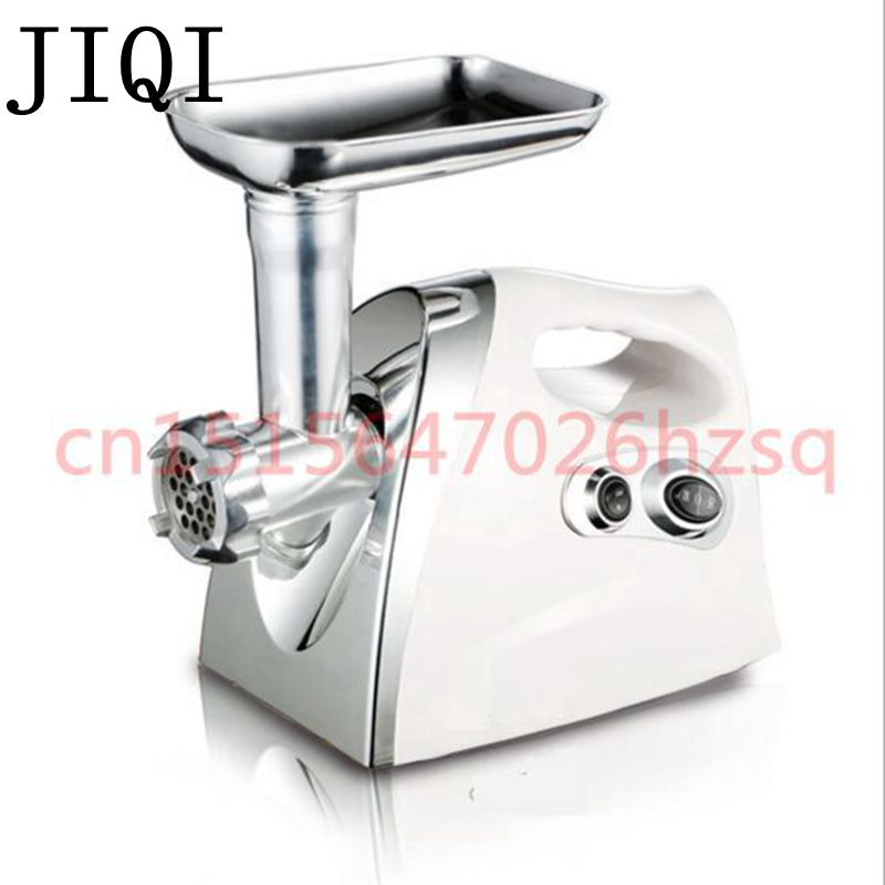 JIQI Multifunctional  Home Electric Meat Grinder  chopper Stainless Steel Sausage Stuffer Mincer Maker Kitchen Tool stainless steel meat grinder 2 cutting plates electric moedor de carne 2 types sausage stuff makers kitchen appliance meat grind