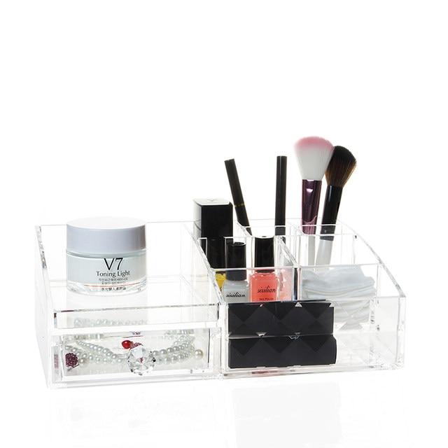 Online Shop Diamond pattern Acrylic Cosmetic box makeup Organizer