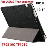 Case para asus transformer pad tf0310c capa protetora de couro tablet para tf103c tf103cg k010 k018 10.1 polegada pu protector sleeve