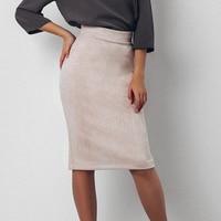 Замшевая юбка-карандаш изумрудного цвета