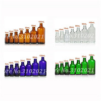 5/10/15/20/30/50/100ml Empty Amber/Clear/Blue/Green Glass Massage Essential Oil Dropper Bottle Perfume sub bottling wholesale
