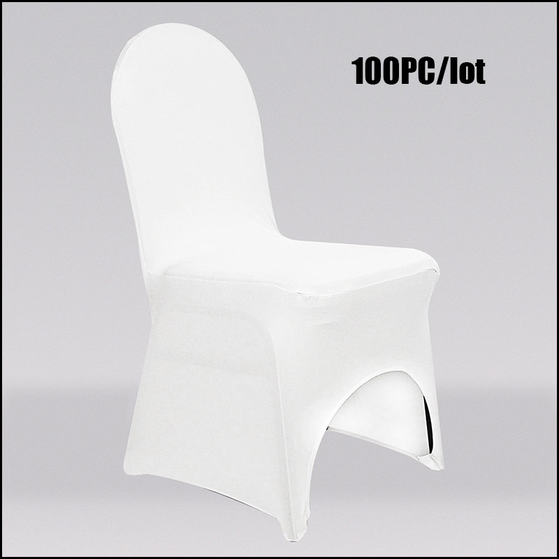 Low Cost Chair Covers Bath Tub 100pc Lot Iron Free 100 Polyester Universal Spandex Wedding Party