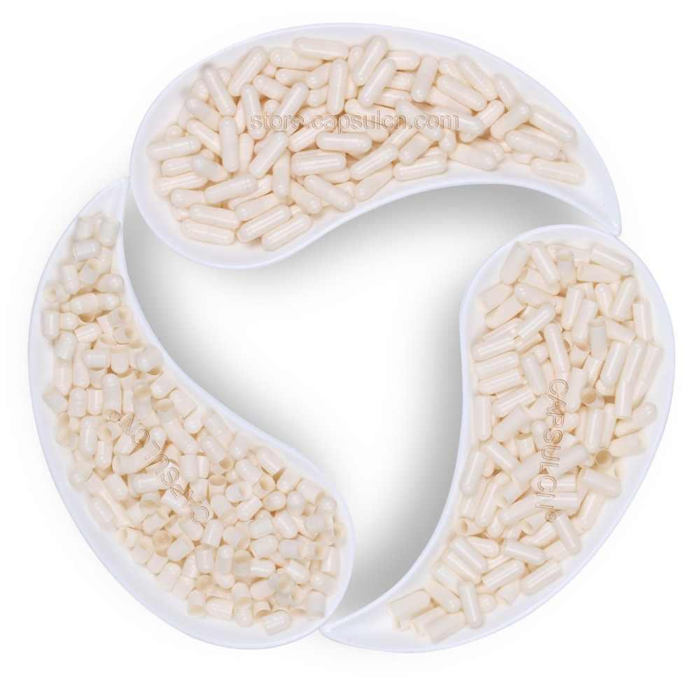 (Размер 1) 5000 Шт./упаковка Пустые Соединенные Желатиновые Белые Капсулы для Капсуляторов