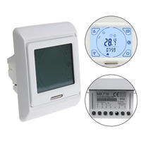 Shanwen LCD Programmeerbare Vloerverwarming Thermostaat Controller Temperatuur Touchscreen