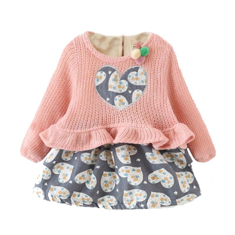 Knitting Dress For Girl : Baby girl dress knitting winter little dresses