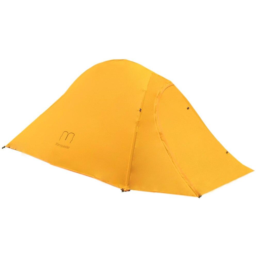 1.35 KG 20D Nylon et Fiber de carbone pôle Double couche ultra-léger UL 2 personnes Camping tente