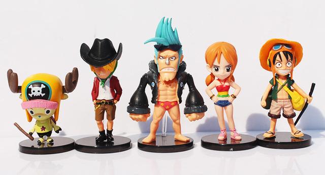 One Piece Luffy Roronoa Zoro Sanji Toys 9pcs/lot