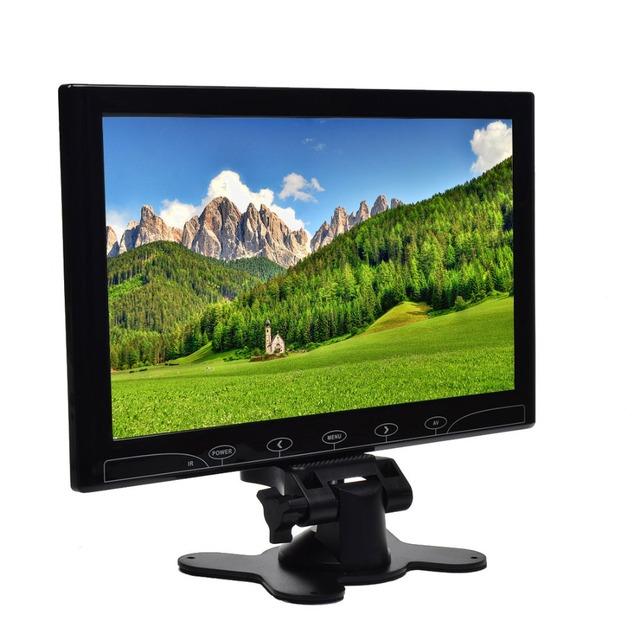 Ultrafino de 10.1 Pulgadas TFT LCD a Color de 2 de Entrada de Vídeo PC Pantalla VGA HDMI AV de Audio y Vídeo de Entrada de Seguridad Monitor de Pantalla + Remoto Control