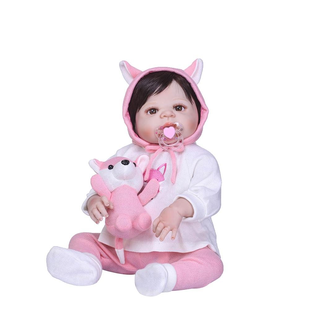 New Cute Vivid Realistic Lifelike Vinyl Silicone Baby Reborn Doll Kids Sleeping Toy New Cute Vivid Realistic Lifelike Vinyl Silicone Baby Reborn Doll Kids Sleeping Toy