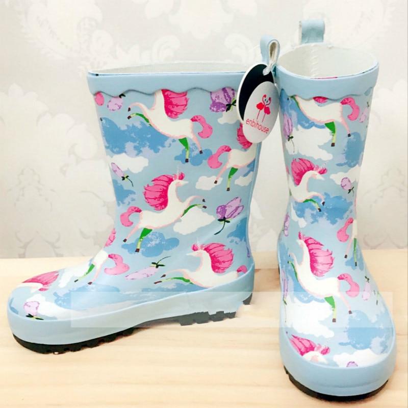 Kids Rain Boots Animal Print Cartoon Rubber Waterproof  Antiskid Mid-calf Kids Infant Slip-on BootsKids Rain Boots Animal Print Cartoon Rubber Waterproof  Antiskid Mid-calf Kids Infant Slip-on Boots