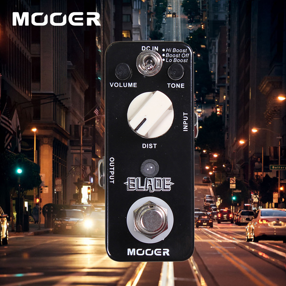 Mooer Lo Boost/Boost Off/Hi Boost 3 Working Modes Blade Heavy Metals Distortion Guitar Effect Pedal True Bypass diy booster boost clean guitar effect pedal boost true bypass booster kits fp