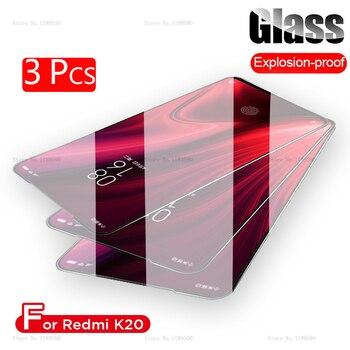 Vidrio de cubierta completa de 3 piezas para Xiaomi mi 9 T rojo mi K20 Pro Protector de pantalla de vidrio templado para Xiaomi película de teléfono de vidrio mi 9 T Red mi K20
