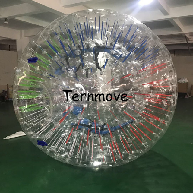 Walking Zorb Ball With light bar light shinning outdoor toys inflatable human hamster ball Fluorescent strips