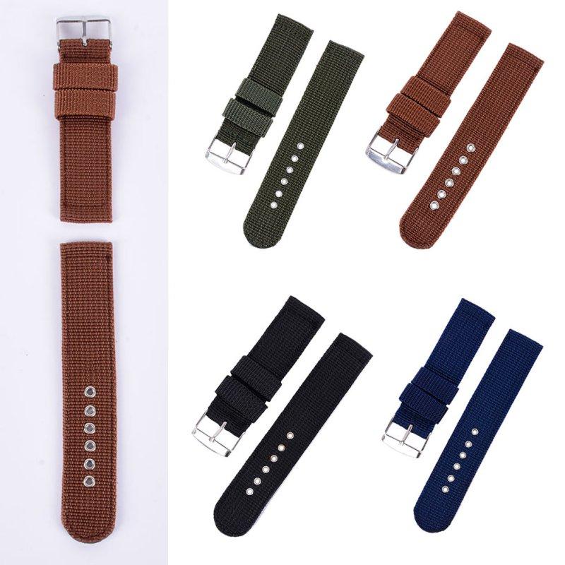 4 Farbe Militär Armee Uhrenarmband Nylon Stoff Canva Armbanduhr Band - Uhrenzubehör - Foto 5