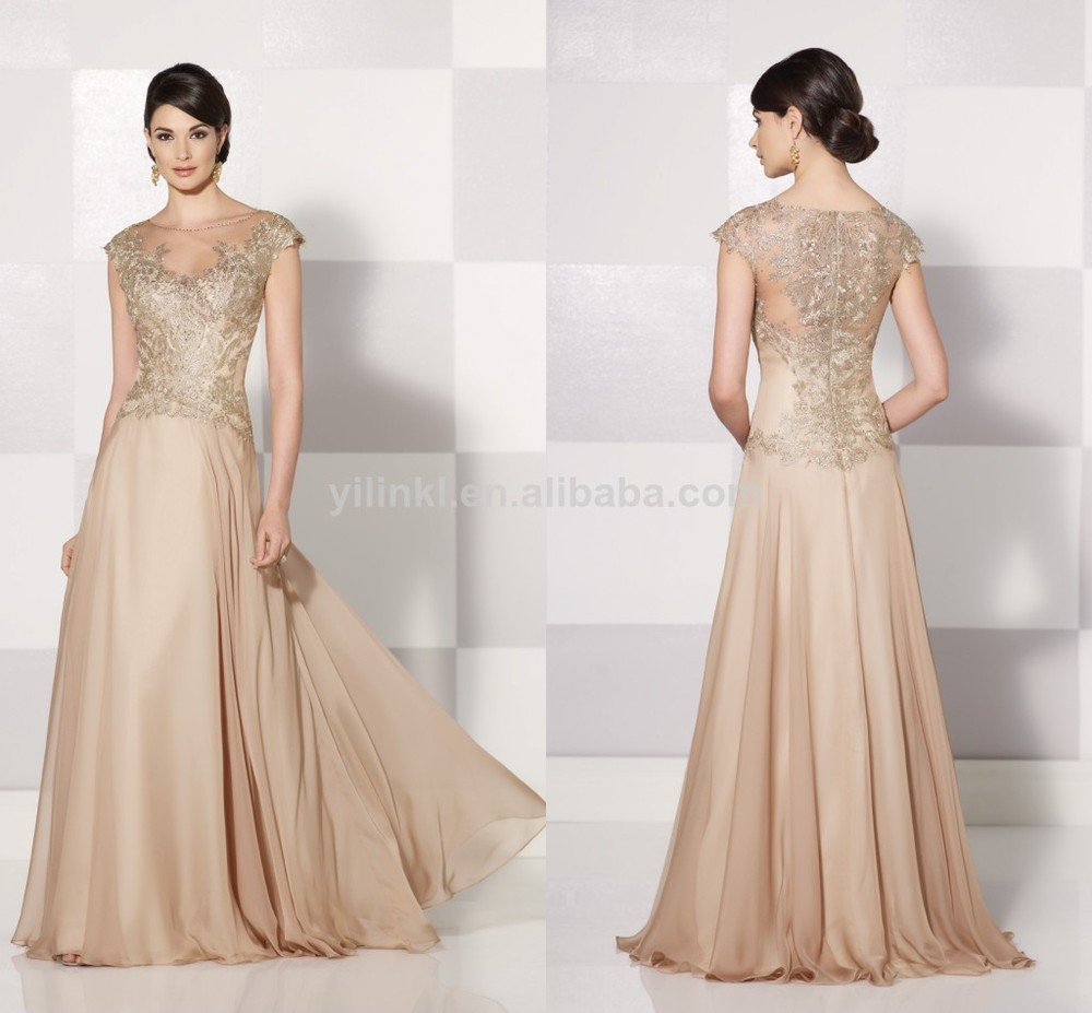 6a10322c459 Fashionable Light Champagne Long Floor Length Fat Bohemian Style Mother Of  the Bride Dress