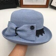 7a29286798a HuKaiLi Summer art van small pure fresh dome straw hat female shading  sunscreen