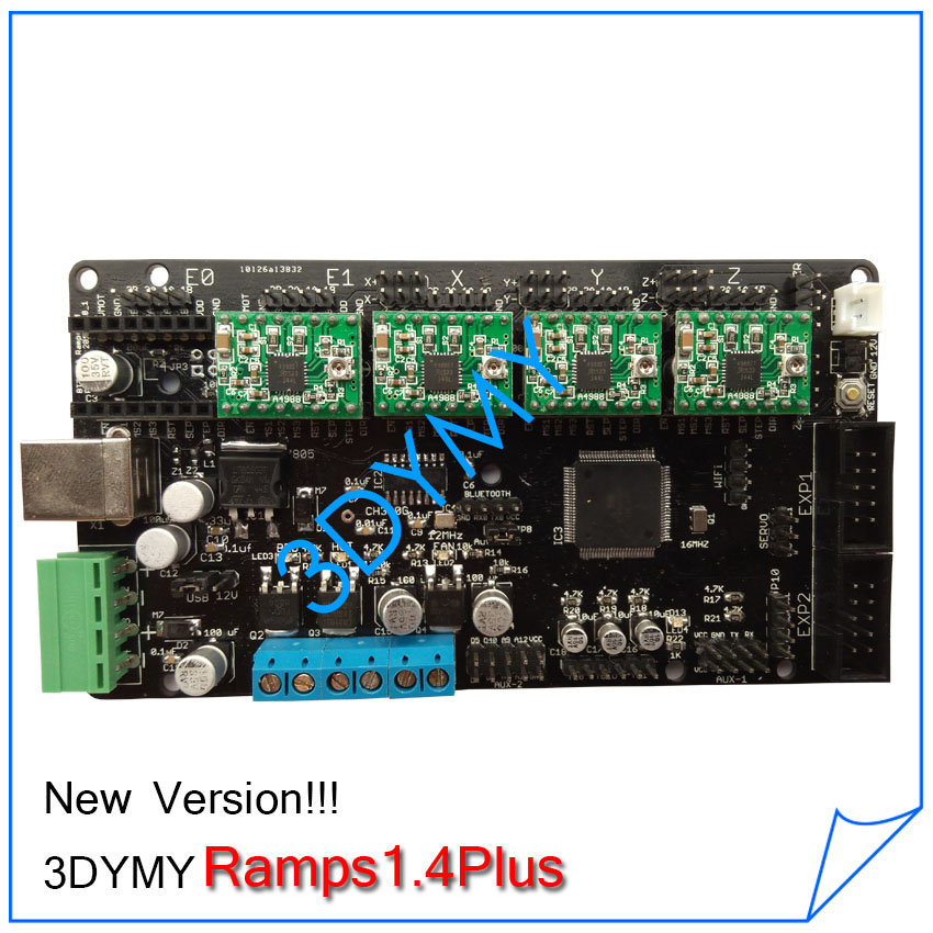 New Version 3DYMY Ramps 1 4 Plus 3D Printer Control Board Motherboard of Mega2560 Ramps 1 new version 3dymy ramps 1 4 plus 3d printer control board  at gsmx.co